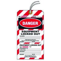 Tear-Off Jumbo Equipment Locked Out Tags