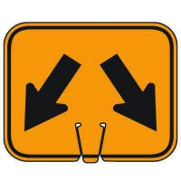 Traffic Cone Signs - Arrow Down Left and Arrow Down Right
