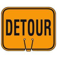 Traffic Cone Signs - Detour