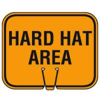 Traffic Cone Signs - Hard Hat Area