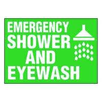 Ultra-Stick Signs - Emergency Shower And Eyewash