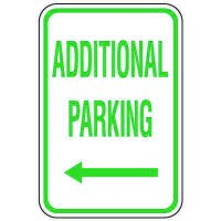 Visitor Parking Signs - Additional Parking (Left Arrow)