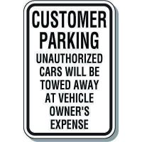 Visitor Parking Signs - Customer Parking Unauthorized Cars