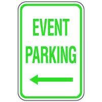 Visitor Parking Signs - Event Parking (Left Arrow)