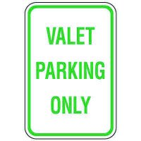 Visitor Parking Signs - Valet Parking Only