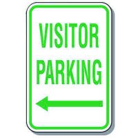 Visitor Parking Signs - Visitor Parking (Left Arrow)