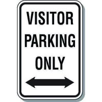 Visitor Parking Signs - Visitor Parking Only (Double Arrow)