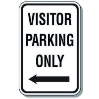 Visitor Parking Signs - Visitor Parking Only (Left Arrow)