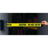 Wall Mount Security Tensabarriers- Caution Do Not Enter 897-33-YA-C