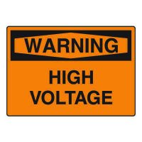 Electrical Hazard Sign - High Voltage