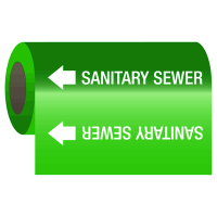 Wrap Around Adhesive Roll Markers - Sanitary Sewer