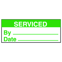 Write On Labels - Serviced By__Date__