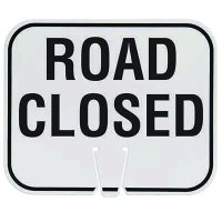 Traffic Cone Signs - Road Closed