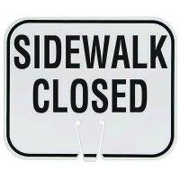 Traffic Cone Signs - Sidewalk Closed