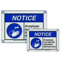 ToughWash® Encapsulated Signs - Notice Employees Must Wash Hands