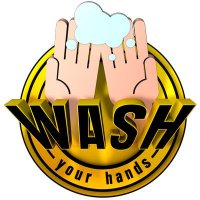 3D Wall Decal - Wash Your Hands - Yellow