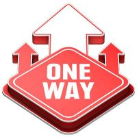 3D Floor Marker - One Way - Red