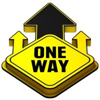 3D Floor Marker - One Way - Yellow
