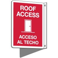 2-Way Bilingual Roof Access Sign