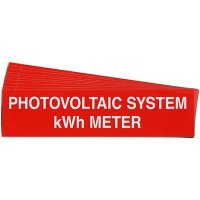 """""""Photovoltaic System kWh Meter"""" Solar Warning Labels"""