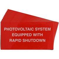 Rapid Shutdown Solar Warning Labels