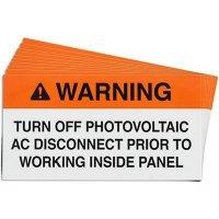 Working Inside Solar Warning Labels