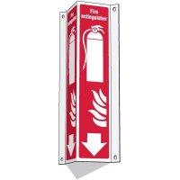 3-Way Fire Extinguisher w/Symbols Sign