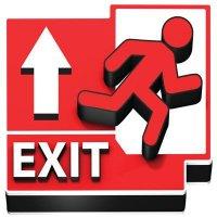 3D Floor Marker - Exit Ahead