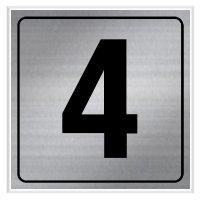 4 - Engraved Door Number Signs