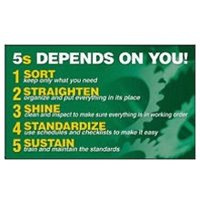 5S Banners and Wallcharts - 5S Depends On You