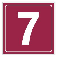 7 - Engraved Door Number Signs