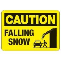 OSHA Caution Sign: Falling Snow