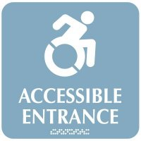 Accessible Entrance (Dynamic) - Optima ADA Restroom Signs