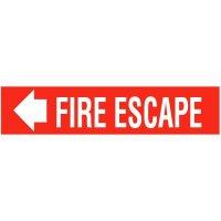 Fire Escape Self-Adhesive Vinyl Fire Signs