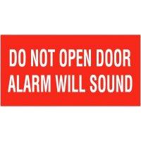 Do Not Open Door Alarm Will Sound Self-Adhesive Vinyl Door Signs