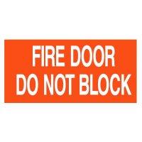 Fire Door Do Not Block Self-Adhesive Vinyl Fire Door Signs