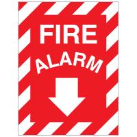 Fire Alarm Self-Adhesive Vinyl Sign