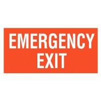 Emergency Exit  Self-Adhesive Vinyl Signs