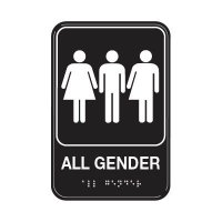 All Gender W/ Graphic - Graphic ADA Braille Tactile Signs