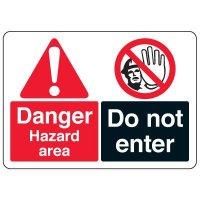 ANSI Multi-Message Safety Signs - Danger Hazard Area Do Not Enter