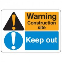 ANSI Multi-Message Safety Signs - Warning Construction Site Keep Out