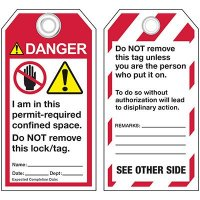 ANSI Occupied Confined Space Tags
