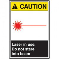 ANSI Safety Signs - Caution Laser In Use