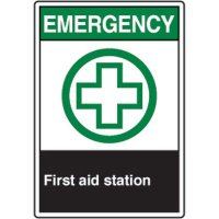 ANSI Safety Signs - Emergency First Aid Station