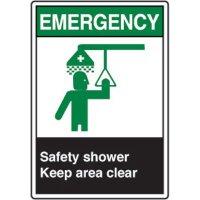 ANSI Safety Signs - Emergency Safety Shower