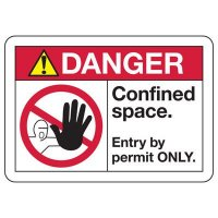 ANSI Z535 Safety Signs - Danger Confined Space