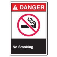 ANSI Z535 Safety Signs - Danger No Smoking