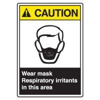 ANSI Z535 Safety Sign - Caution Wear Mask