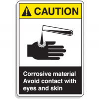 ANSI Z535 Safety Signs - Caution Corrosive Material