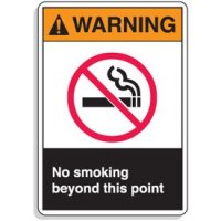 ANSI Z535 Safety Signs - No Smoking Beyond This Point